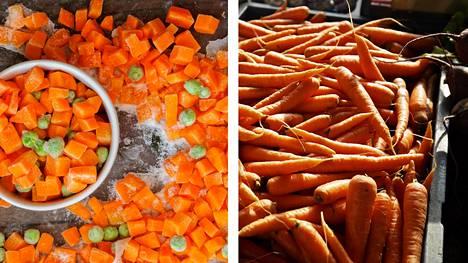 Pakasteporkkanassa voi olla jopa enemmän ravintoaineita kuin monta kuukautta varastoidussa tuoreessa porkkanassa.