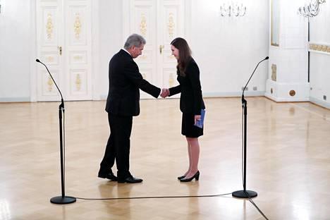 Presidentti Sauli Niinistö nimitti pääministeri Sanna Marinin (sd) hallituksen 10. joulukuuta 2019.