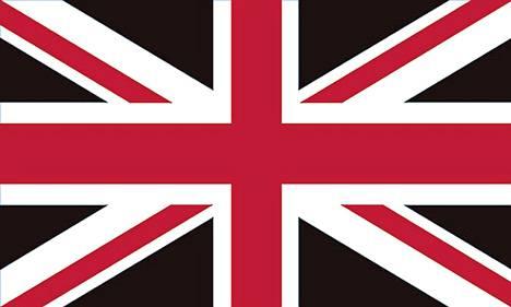 Suosituimmassa lippumuunnelmassa sininen väri on korvattu mustalla.