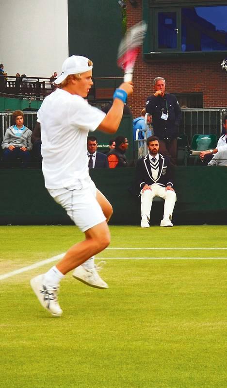 Herkko Pölläsen pelit Wimbledonin junioriturnauksessa päättyivät toiselle kierrokselle.