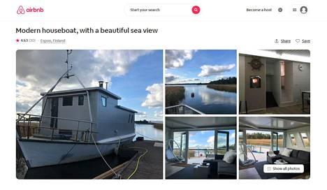 Soukan Airbnb-laivaan pystyi vielä tammikuun lopussa tekemään varauksia. Kaupunki on velvoittanut omistajaa poistamaan laivan 14.5.2021 mennessä.