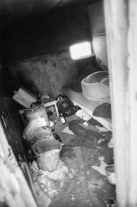 Monet asumukset olivat huonossa kunnossa. Kuva on vuodelta 1987.