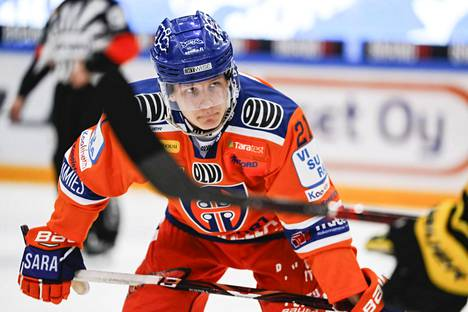 Patrik Puistola aloitti viime kauden Tapparassa.