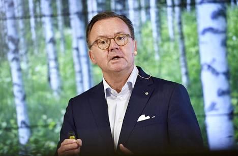 Stora Enson toimitusjohtaja Karl-Henrik Sundström.