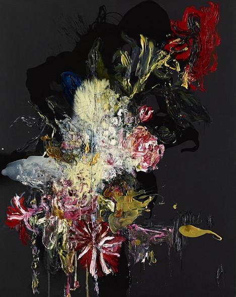 Heikki Marila toisintaa teoksissaan 1600-luvun hollantilaisia asetelmamaalauksia. Kuvassa teos Flowers XIV, 2009.