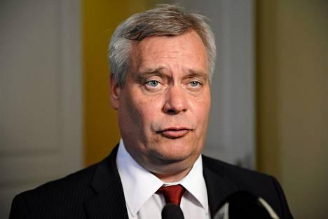 Valtiovarainministeri Antti Rinne (sd)