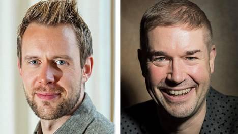 Waltteri Torikka (vasemmalla) ideoi Sillanpää-oopperan. Ohjaaja Marco Bjurström kertoo joutuneensa selittämään lähipiirilleen, että kyseessä on kirjailija Frans Emil Sillanpää, ei iskelmätähti Jari Sillanpää.