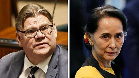 Timo Soini ja Aung San Suu Kyi