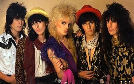 Hanoi Rocks kuvattuna noin vuonna 1984.