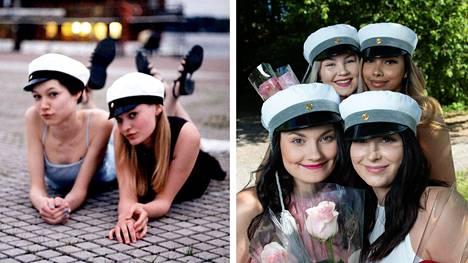 Nora Malmberg ja Suvi Vihavainen kirjoittivat ylioppilaiksi vuonna 1999. Minna Liemaa, Wilma Karlsson, Uma Salmi ja Marika Mattila valmistuivat tänä keväänä.