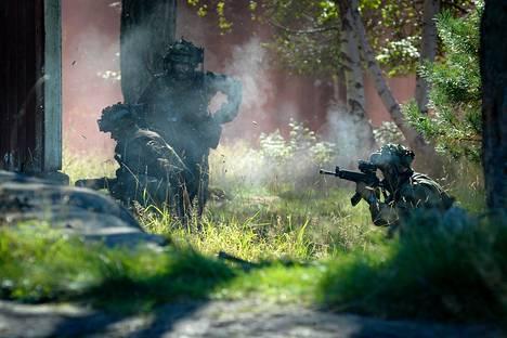 Nordic Coasts 2014 sotaharjoitus pidettiin Hästö-Busön saarella Hangon edustalla.