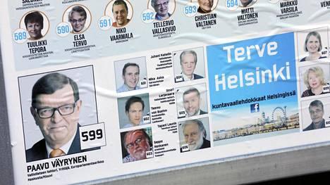 Terve Helsinki -puolueen ja Helsingin kristillisdemokraattien yhteinen vaalimainos.