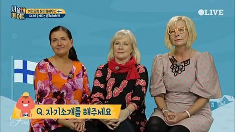 Riikka Björn, Leila Ketola ja Marja Nousiainen tähdittivät alkuvuodesta korealaista Seoulmate-tosi-tv-sarjaa.