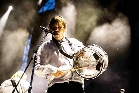 Arcade Fire esiintyi 17. 7. Milanossa. Kuvassa William Butler.