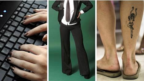 Lain mukaan työnantaja ei saisi puuttua työntekijöiden pukeutumiseen kuin rajoitetusti.