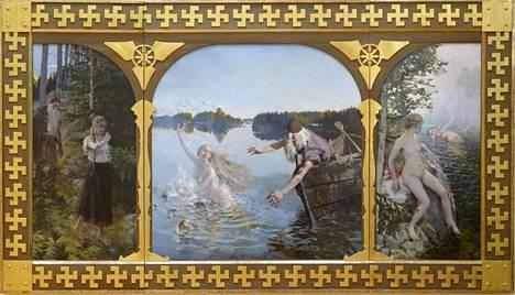 Moni tuntee Kalevalan Ainon parhaiten Akseli Gallen-Kallelan triptyykistä, joka kertoo Ainosta ja Väinämöisestä. Triptyykin ensimmäinen versio on vuodelta 1889.