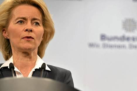 Saksan puolustusministeri Ursula von der Leyen.