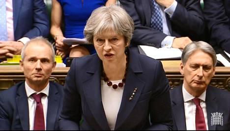 Britannian pääministeri Theresa May puhui venäläisten myrkytyksiin liittyvistä Britannian vastatoimista keskiviikkona.