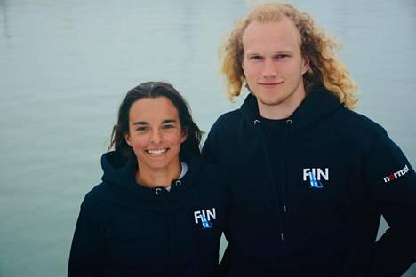 Sinem Kurtbay ja Akseli Keskinen edustavat Suomen Tokion olympialaisissa Nacra 17-luokassa.