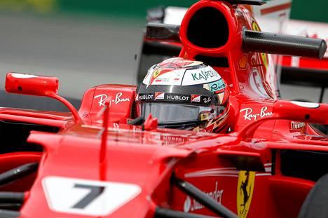 Kimi Räikkönen on ajanut Montrealin harjoituksissa vahvasti.