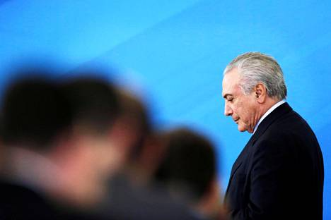 Michel Temer nousi Brasilian presidentiksi viime vuonna.