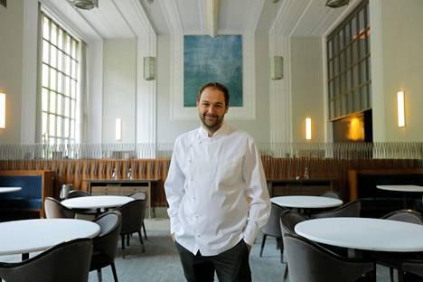 Keittiömestari ja omistaja Daniel Humm kuvattuna Eleven Madison Parkissa toukokuussa 2020.