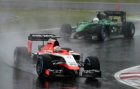 Jules Bianchi ajoi ulos sateisella Suzukan radalla.