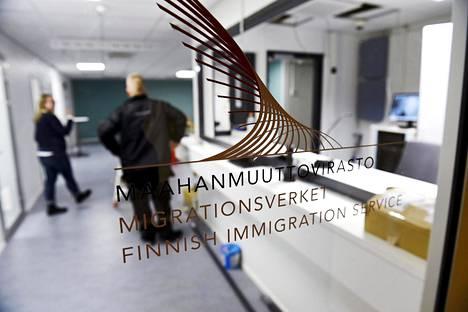 Maahanmuuttoviraston palvelupiste Helsingissä.