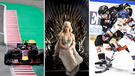 F1 (Cmore), Game of Thrones (HBO) ja SM-liiga (Telia) ovat tärkeitä sisäänheittäjiä tv-palveluille.