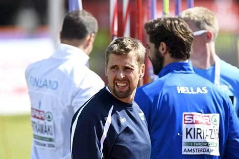 Antti Ruuskaselle arvottiin viimeinen heittopaikka.