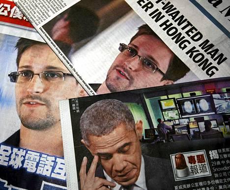 Lehtien kansia Edward Snowdenin astuttua julkisuteen kesäkuussa 2013.