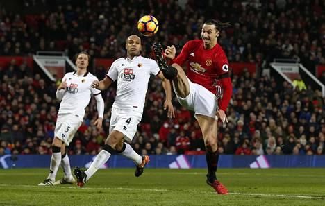 Lauantaina Zlatan Ibrahimovic jäi maaleitta, kun Manchester United voitti Watfordin 2-0.
