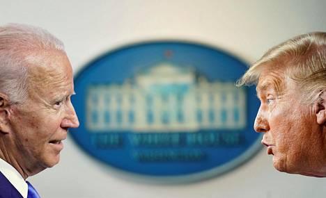 Yhdysvaltain entinen varapresidentti Joe Biden (vas.) yrittää syrjäyttää istuvan presidentin Donald Trumpin marraskuun presidentinvaaleissa.
