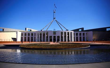 Australian parlamentin rakennus Canberrassa.