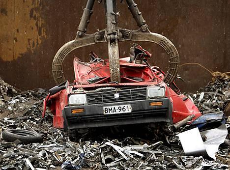Autojen kierrätys yleistyy