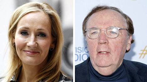 Maailman eniten ansaitsevat kirjailijat 2017: J.K. Rowling (vas.) ja James Patterson.