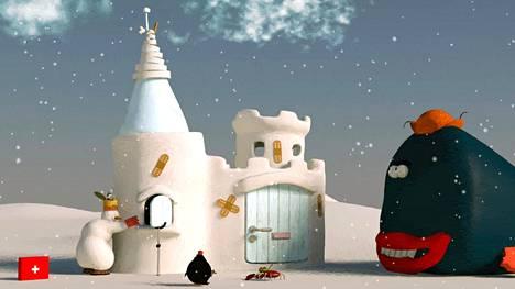 Ensimmäisissä jaksoissa Albi-lumiukko rakensi kodikseen lumilinnan ja sisusti sen. Sittemmin sitä on myös korjailtu.
