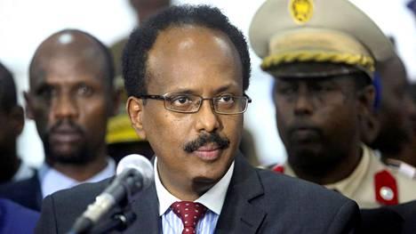 Somalian presidentti Mohamed Abdullahi Farmajo kuvattuna maan pääkaupunki Mogadishussa vuonna 2017.