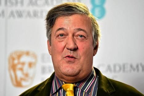 Stephen Fry kuvattiin Bafta-palkintogaalassa Lontoossa tammikuussa.