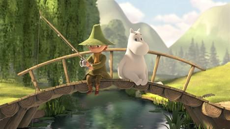 Nuuskamuikkunen ja Muumipeikko seikkailevat uudessa Muumilaakso-sarjassa.