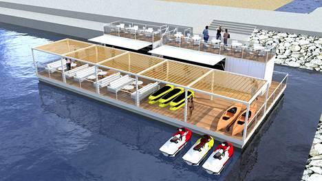 Bluet Floating Solutions toteuttaisi kelluvan kompleksin Aurinkolahteen.