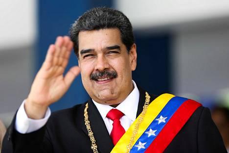 Venezuelan presidentti Nicolás Maduro osallistui itsenäisyyspäivän paraatiin Caracasissa 5. heinäkuuta. Kuva on maan presidentinkanslian välittämä.