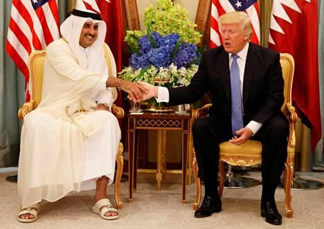 Qatarin emiiri, sheikki Tamim Bin hamad Al Thani tapasi Yhdysvaltain presidentin Donald Trumpin toukokuun lopulla.