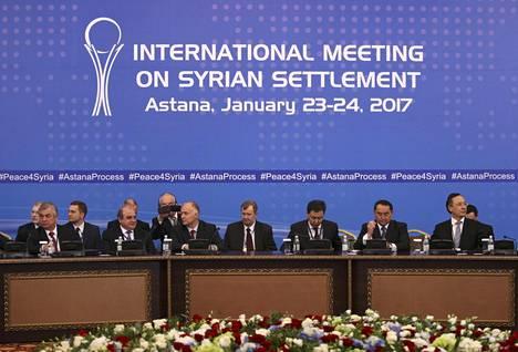 Syyrian rauhankokous kokoontui maanantaina Kazakstanin pääkaupungissa Astanassa.