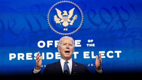 U.S. President-elect Joe Biden speaks about the violence that took place at the U.S. Capitol as he announces his Justice Department nominees at his transition headquarters in Wilmington, Delaware, U.S., January 7, 2021. REUTERS/Kevin Lamarque REFILE - CORRECTING YEAR