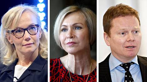 Inka Mero (vas.), Leena Niemistö ja Heikki Westerlund.