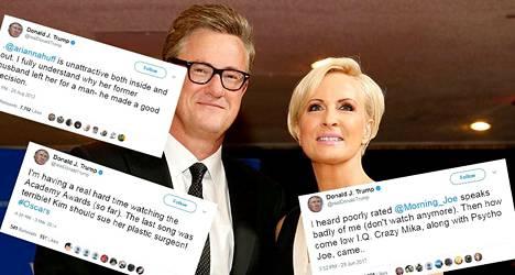 Joe Scarborough ja Mika Brzezinski ovat amerikkalaisia uutisankkureita ja uusimmat Trumpin Twitter-haukkujen kohteet.