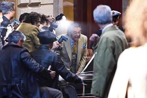 Al Pacino näytteli Aldo Guccia House of Guccin kuvauksissa Roomassa maaliskuussa.