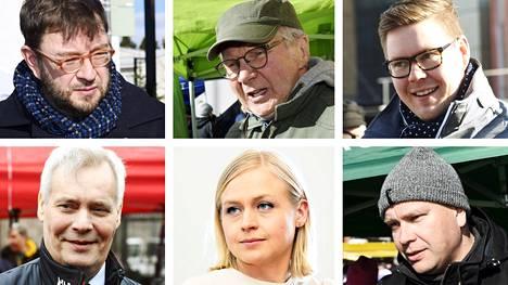 Timo Harakkaa (sd), Pirkka-Pekka Peteliusta (vihr), Antti Lindtmania (sd), Antti Rinnettä (sd), Elina Lepomäkeä (kok) ja Antti Kaikkosta (kesk) veikataan tulevien vaalien Uudenmaan ääniharaviksi.
