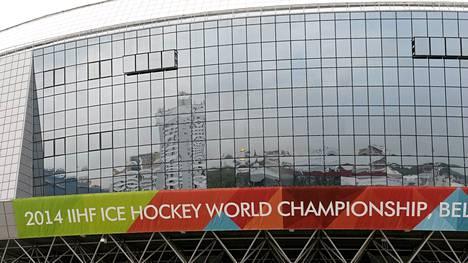 Minsk-areenan ulkopuoliset jutut ovat muodostuneet ongelmaksi jääkiekon MM-kisapaikalla.